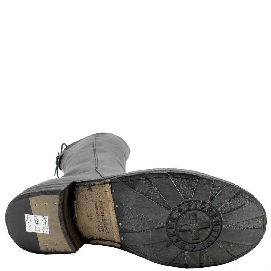 Fiorentini+Baker Fiorentini+Baker Black Calf Knee Boot With Back Tie Emma