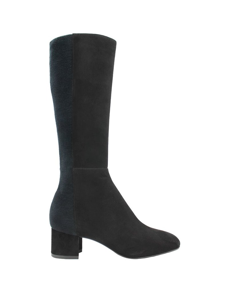 Aquatalia Black Suede Knee Boots With Stretch Back Jules