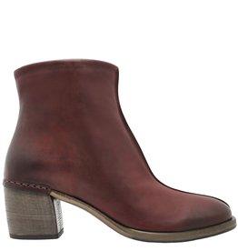 Del Carlo DelCarlo Burgundy Side Zipper Ankle Boot 6190