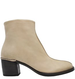Del Carlo DelCarlo Beige Side Zipper Ankle Boot 6190