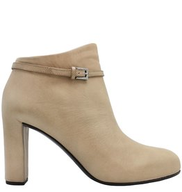 Del Carlo DelCarlo Beige Buckled High Heel Ankle Boot 6290