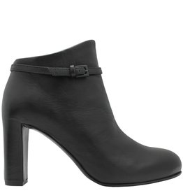 Del Carlo DelCarlo Black Buckled High Heel Ankle Boot 6290