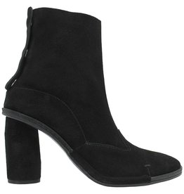 Del Carlo DelCarlo Black Suede Triple Back Snap Closure Ankle Boot 6320