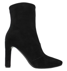 Del Carlo DelCarlo Black Suede High Heel Ankle Boot 6440