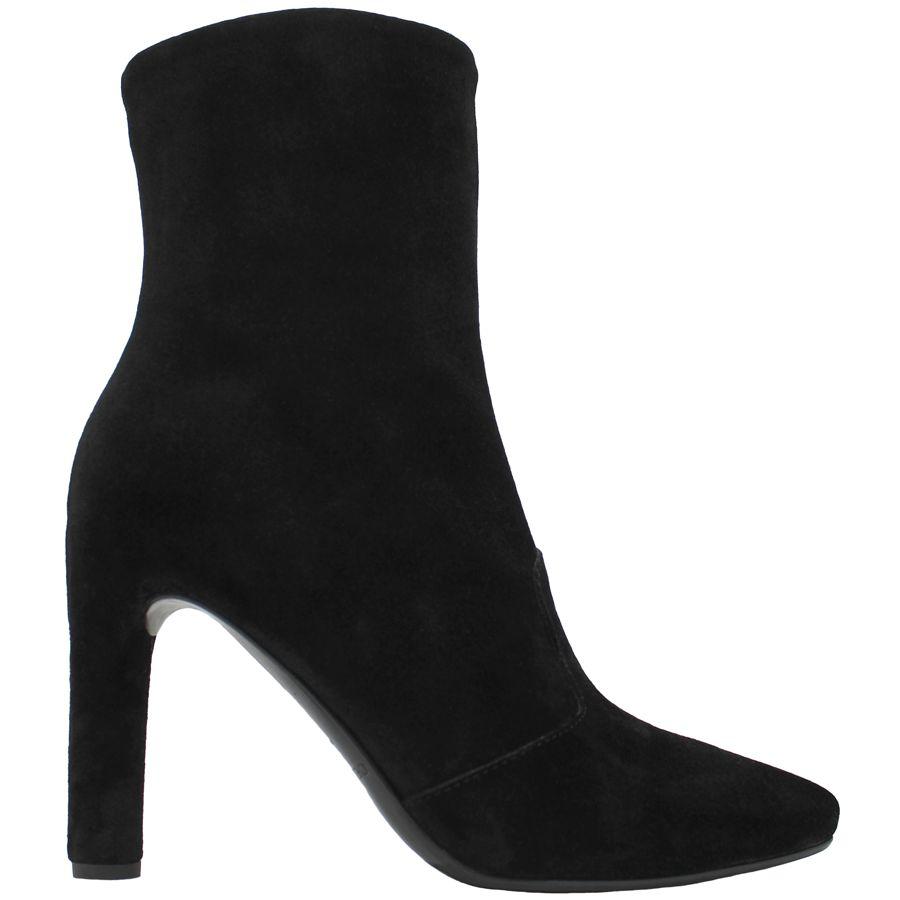 Del Carlo DelCarlo Black Suede High Heel Ankle Boot 6440