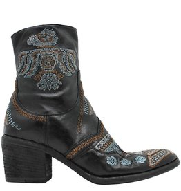 Fauzian Jeunesse FauzianJeunesse Black Embroidered Side Zip Boot 3604
