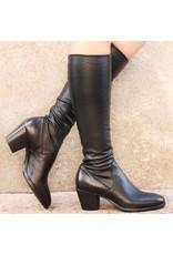 Elena Iachi ElenaIachi Black Calf Stretch Knee Boot 1646