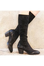 Elena Iachi ElenaIachi Black Suede Stretch Knee Boot 1646