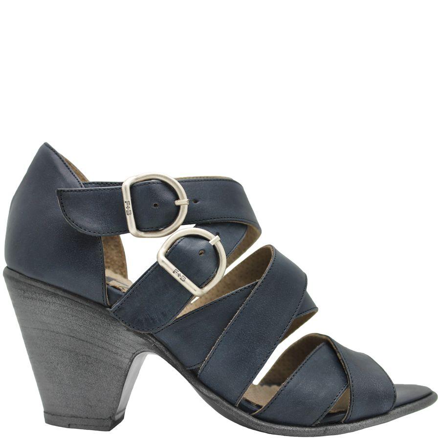 Fiorentini+Baker Fiorentini+Baker Blue 2-Buckle Criss-Cross City Sandal Sian