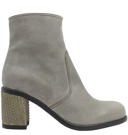 Fiorentini+Baker Fiorentini+Baker Grey Ankle Boot Gold Stud Heel Riby-Bo