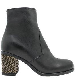 Fiorentini+Baker Fiorentini+Baker Black Ankle Boot Gold Stud Heel Riby-Bo