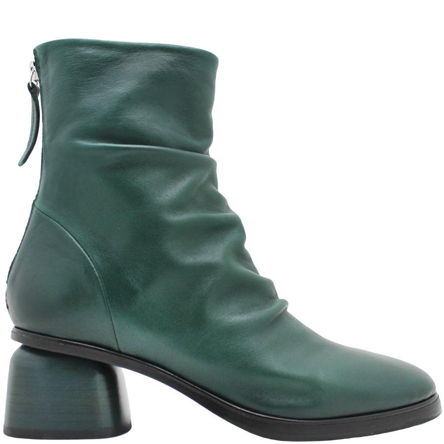 Halmanera Halmanera Green Ruched Back Zipper Boot Abid