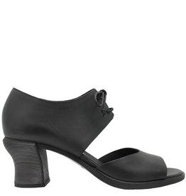 Del Carlo DelCarlo Black Lace-Up Sandal Medium Curved Heel 5336