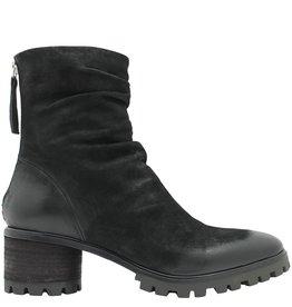 Halmanera Halmanera Black Mid Calf Boot Round Heel Adele