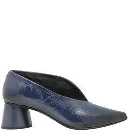 Halmanera Halmanera Navy Blue Patent Medium Heel Pump Arora
