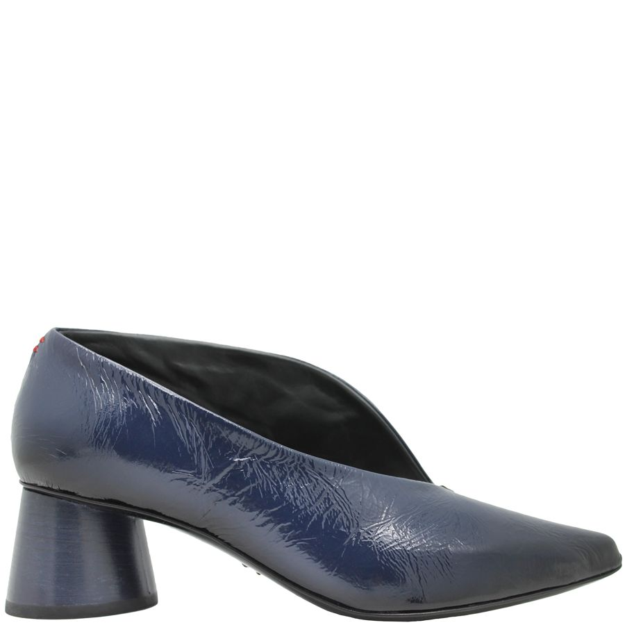 Halmanera Navy Blue Patent Medium Heel Pump Arora - Head Start Shoes