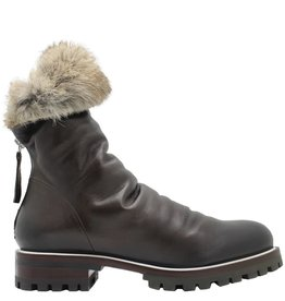 Halmanera Halmanera Brown Fold Down Boot With Fur Nia