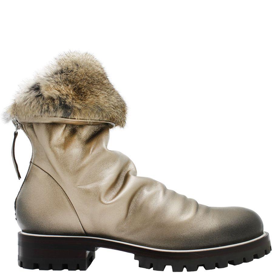 Halmanera Halmanera Platinum Fold Down Boot With Fur Nia