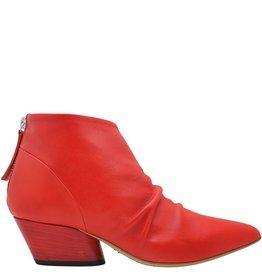Halmanera Halmanera Red Ruched Ankle Boot Kos