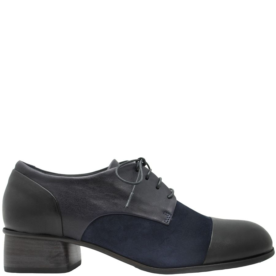 Ink Ink Blue Oxford With Black Toe Cap 4617