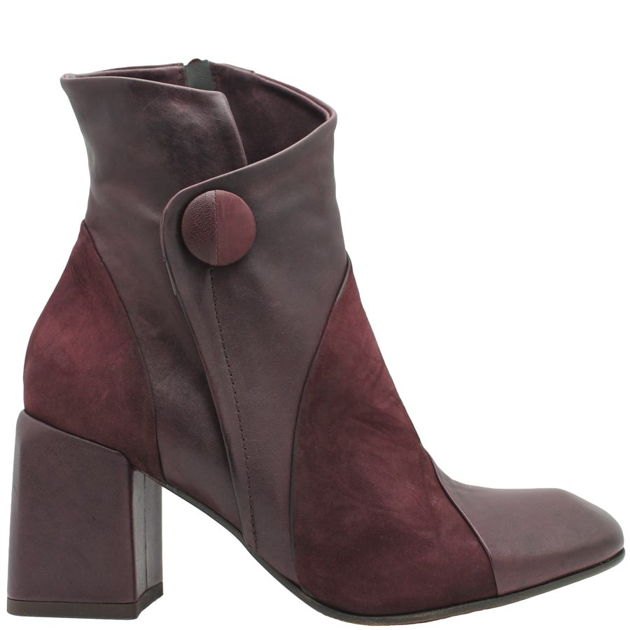 Ixos Ixos Burgundy Square Toe Boot with Button 7031