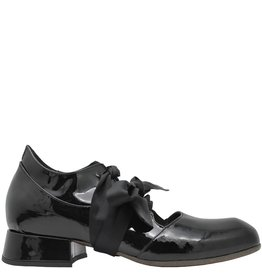 Ixos Ixos Black Patent Lace-Up Shoes 7066
