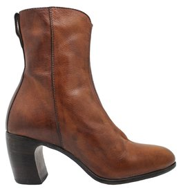 Moma Moma Camel Mid-Calf Boot With Front Patent Panel 8578
