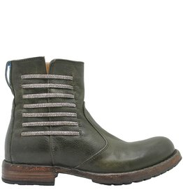 Moma Moma Olive Side Zipper Boot With Elastic Detail 8579