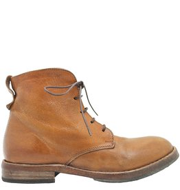 Moma Moma Camel Lace-Up Boot With Side Zipper 8580