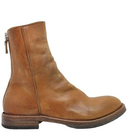Moma Moma Camel Mid-Calf Boot With Back Zipper 8581