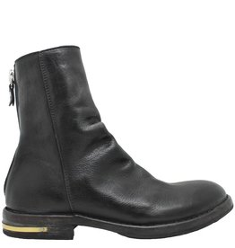 Moma Moma Black Mid-Calf Boot With Back Zipper 8581