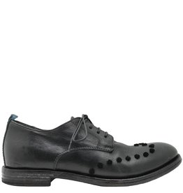 Moma Moma Black Oxford With Velvet Dot Detail 8660
