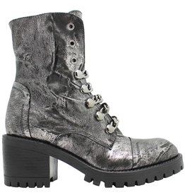 Now Now Metal Chain Boot With Side Zipper 4777