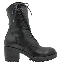 Now Now Black Asymmetric Rugged Sole Ankle Boot 4778