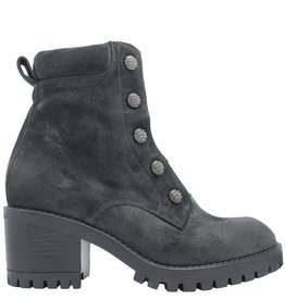 Now Now Graphite Suede Stud Boot With Front Zipper 4780