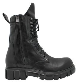 Now Now Black Double Zipper With Laces 4796