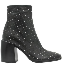 Now Now Black Stud Ankle Boot With Medium Heel 5090
