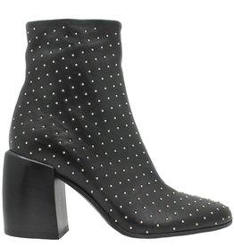 Now Now Black Stud Ankle Boot With Medium Heel 5090
