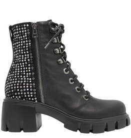 Now Now Black Double Zipper Boot With Laces  5127