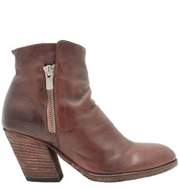 Officine Creative OfficineCreative Mahogany Double Zipper Boot Pitched Heel Daga
