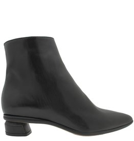 Officine Creative OfficineCreative Black Calf Point Toe Ankle Boot Low Heel Tao