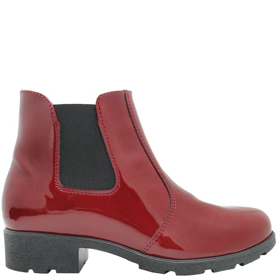 PalmrothOriginal PalmrothOriginal Red Patent Waterproof Chelsea 8323