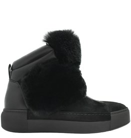 VicMatie VicMatie Black Suede Ankle Boot With Fur 6708