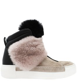 VicMatie VicMatie Blush Suede Ankle Boot With Fur 6708