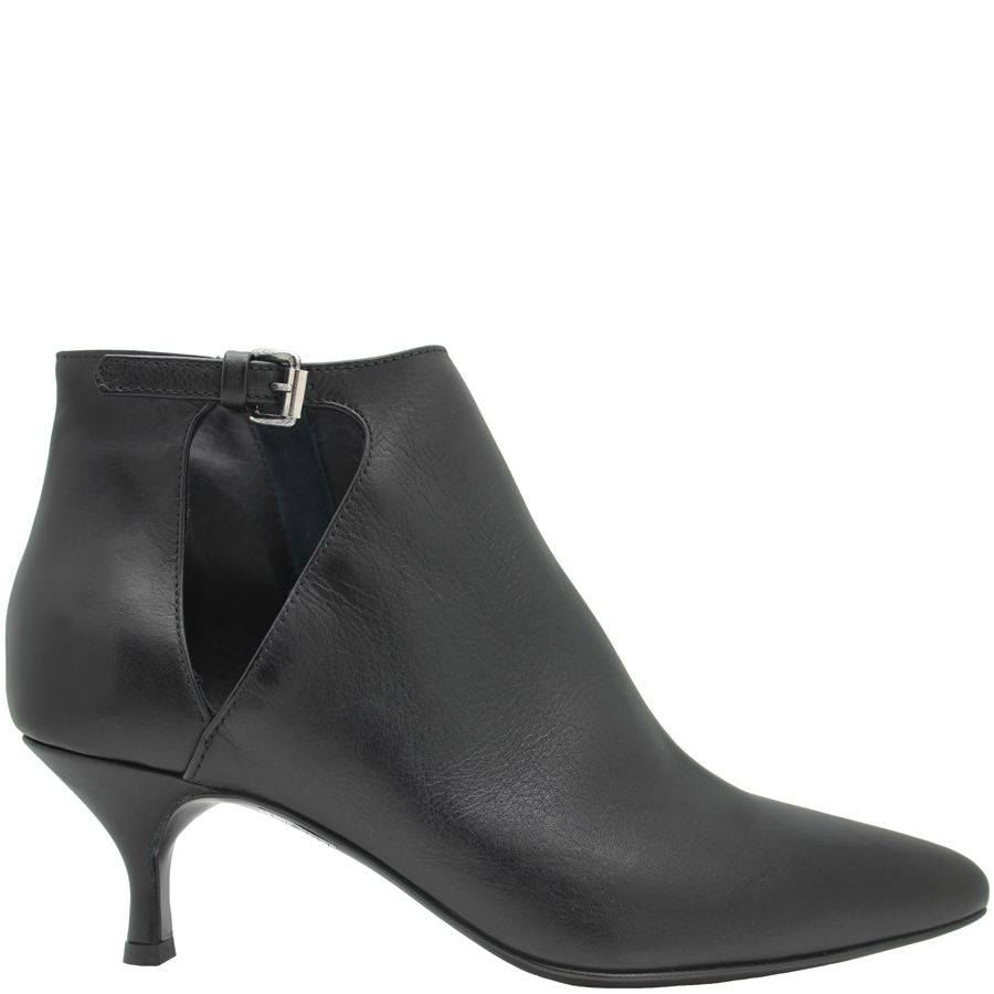 Strategia Strategia Black Side Buckle Point Toe Boot 4927