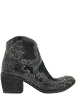 Fauzian Jeunesse FauzianJeunesse Black Ankle Boot With Silver Chain Embroidery 3465