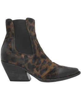 Elena Iachi ElenaIachi Leopard Printed Nubuck Chelsea Medium Heel 2002