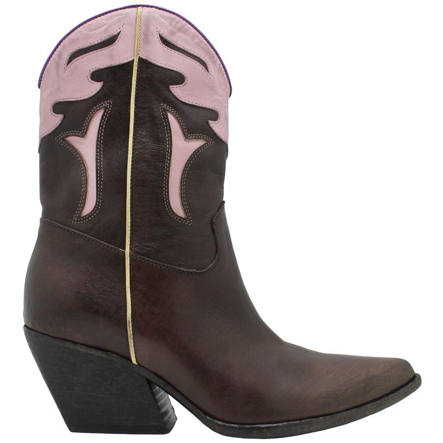 Elena Iachi ElenaIachi Brown and Pink Point Toe Cowboy 2016