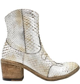 Fauzian Jeunesse Fauzian Jeunesse Silver Python Western Boot With Side Zip 3541