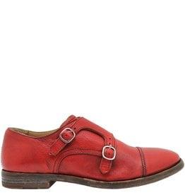 Moma Moma Red Flat Monk Strap Shoe 9049